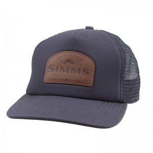 c8955f2c1c6 Simms Leather Patch Trucker Admiral Blue