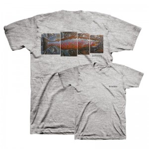 Simms DeYoung Salmon T-Shirt Grey Heather