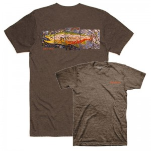 Simms DeYoung Brown Trout T-Shirt Brown Heather