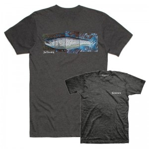 Simms DeYoung Seatrout T-Shirt Charcoal Heather