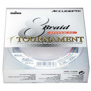 Daiwa Tournament 8 Braid 300m Accudepth 0.20mm