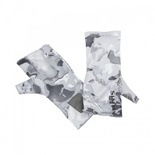Simms Solarflex No-Finger SunGlove Cloud Camo Grey-15573